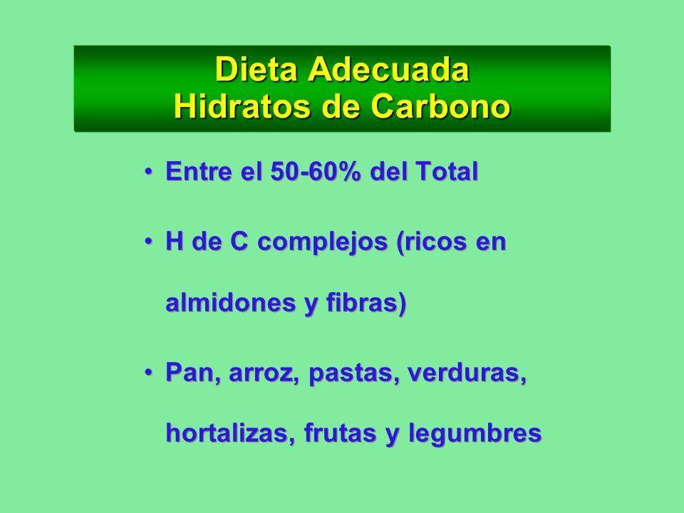 Dieta Adecuada Hidratos de Carbono