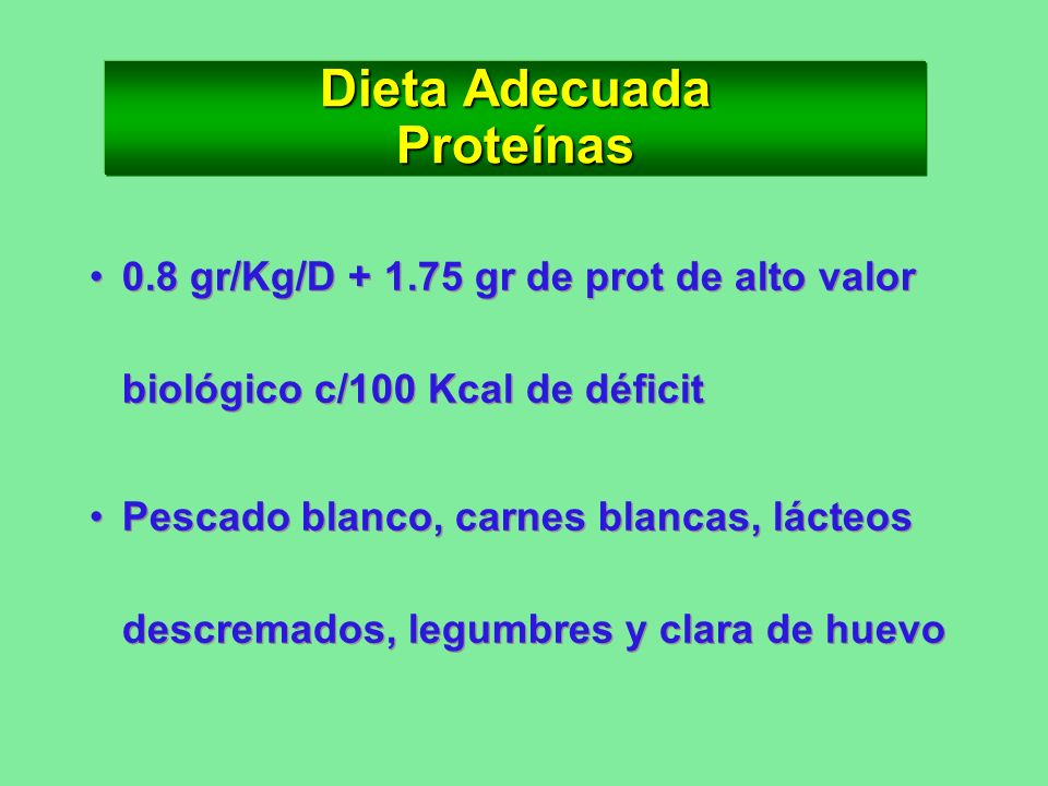 Dieta Adecuada Proteínas