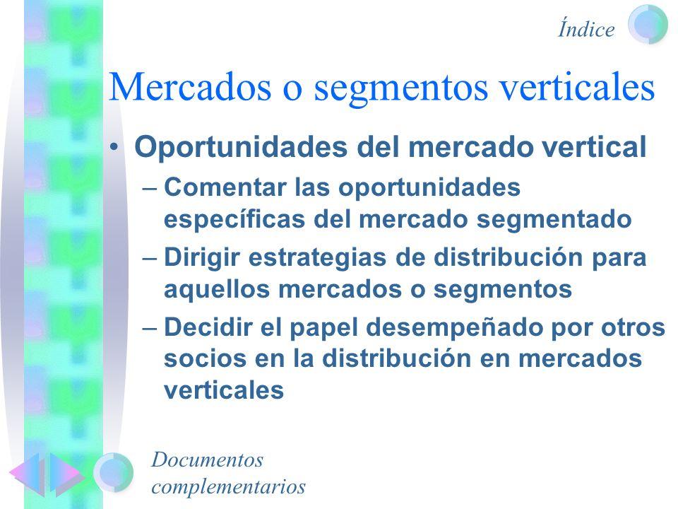 Mercados o segmentos verticales