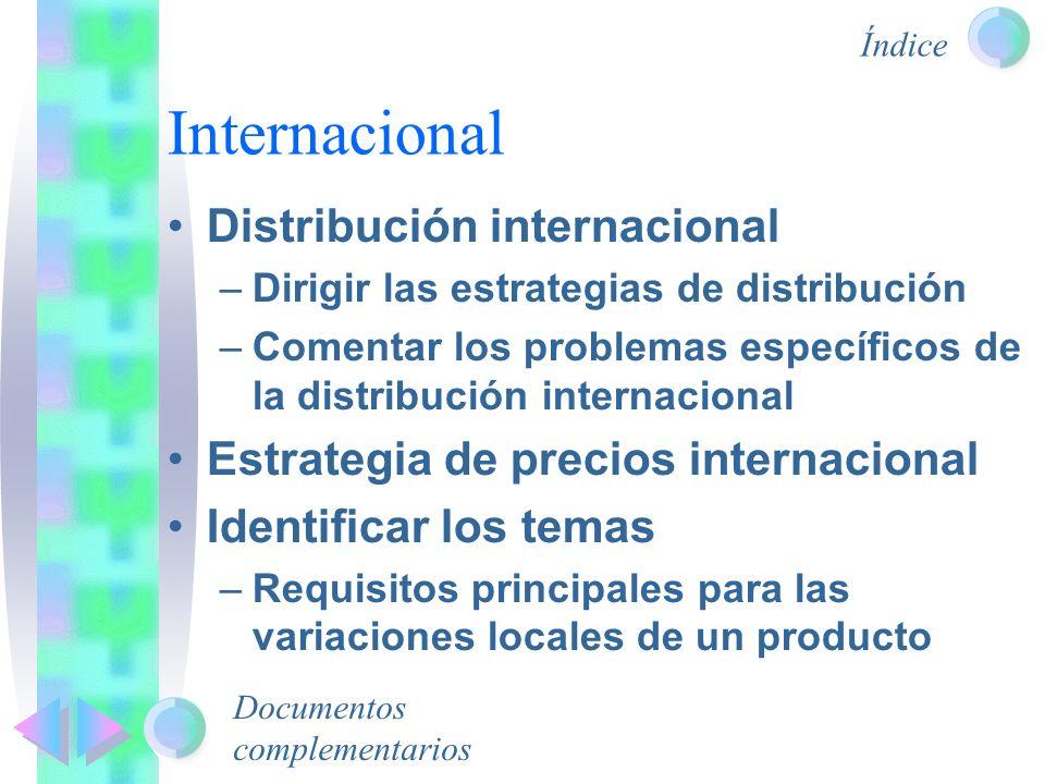 Internacional Distribución internacional