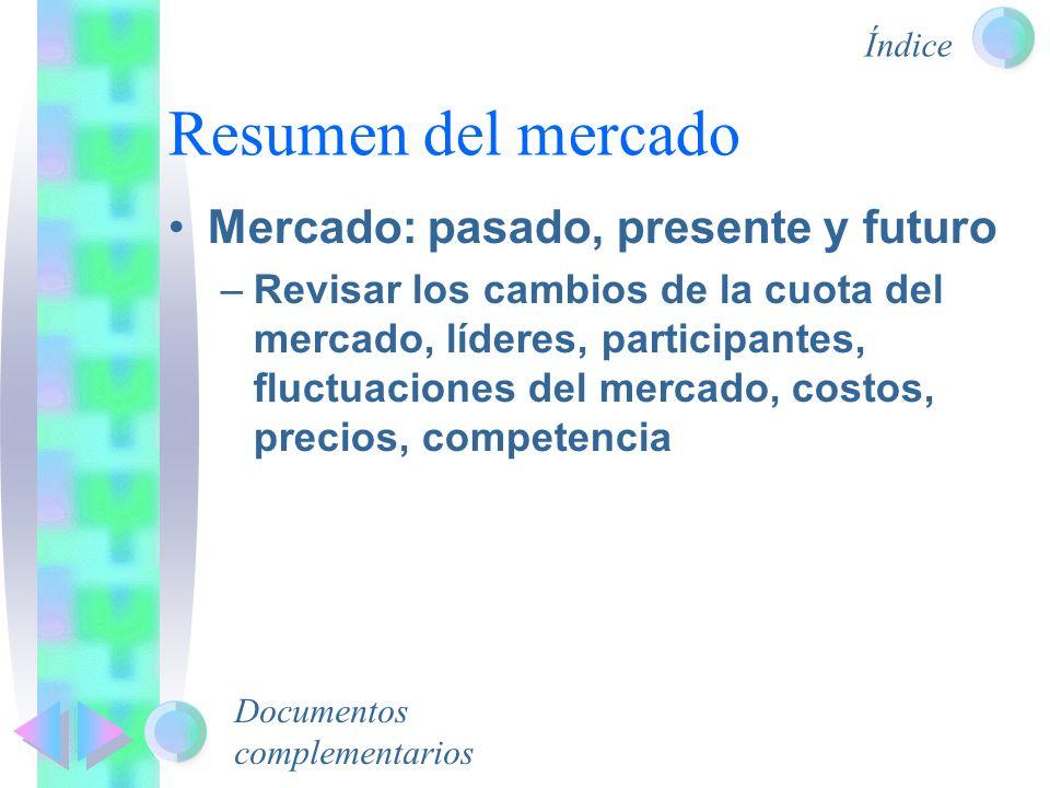 Resumen del mercado Mercado: pasado, presente y futuro