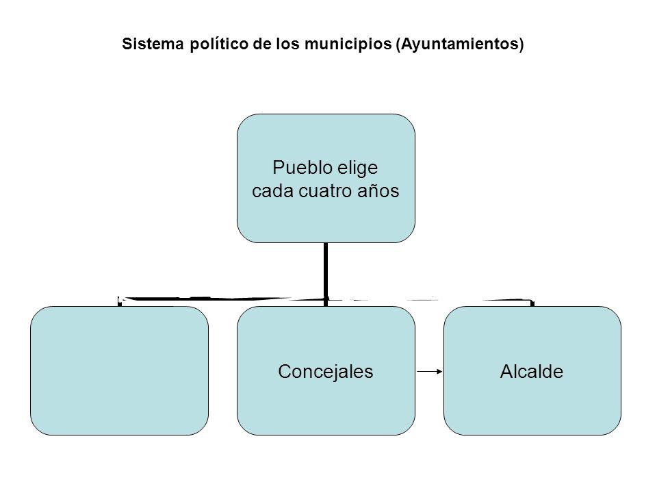Sistema político de los municipios (Ayuntamientos)