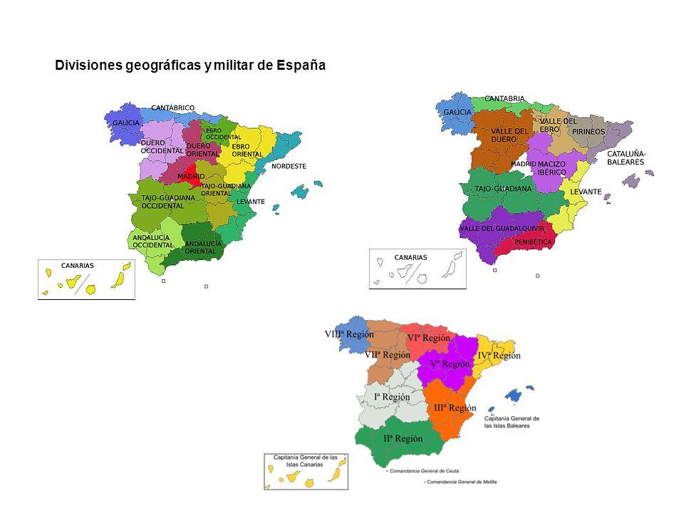Divisiones geográficas y militar de España
