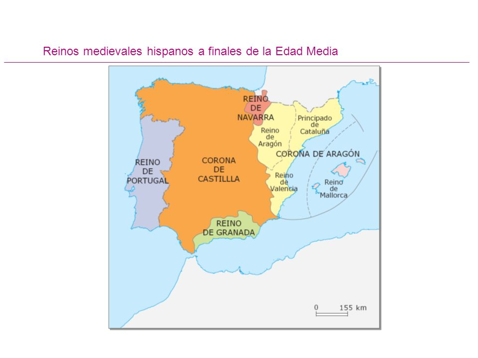 Reinos medievales hispanos a finales de la Edad Media