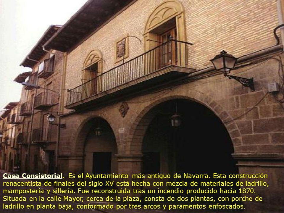 Casa Consistorial. Es el Ayuntamiento más antiguo de Navarra