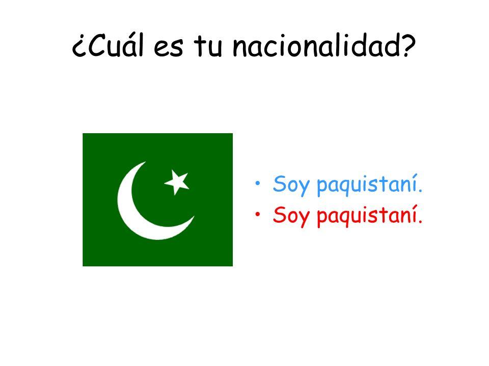 ¿Cuál es tu nacionalidad