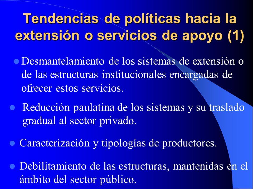 Tendencias de políticas hacia la extensión o servicios de apoyo (1)