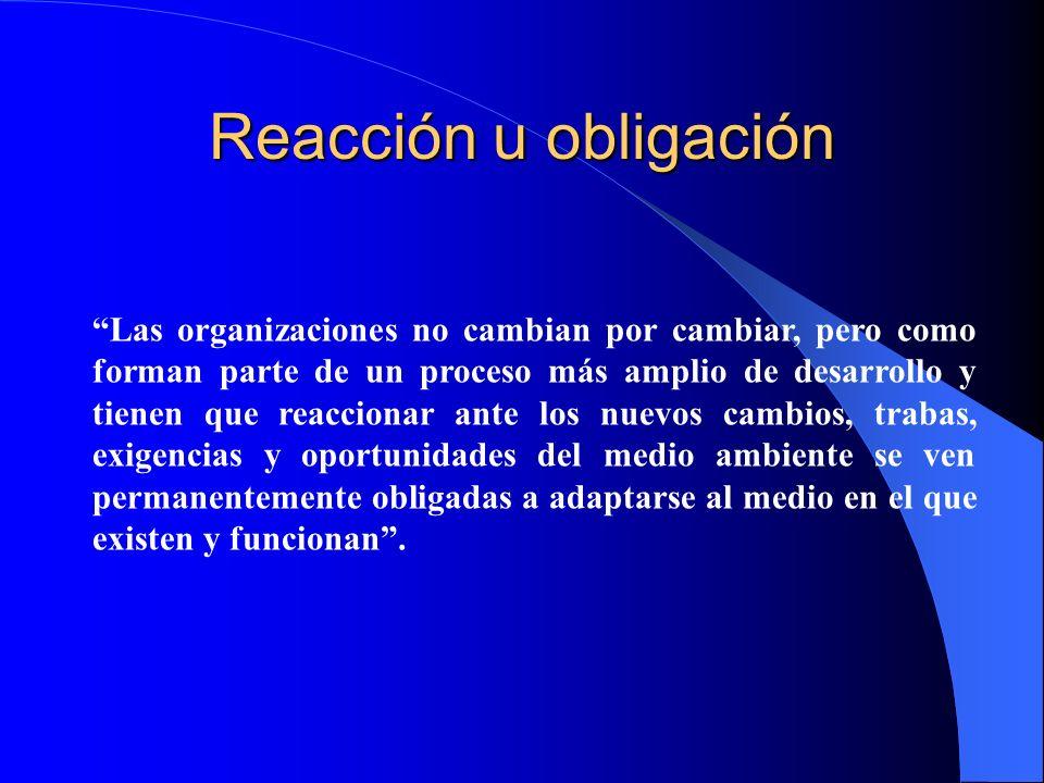 Reacción u obligación