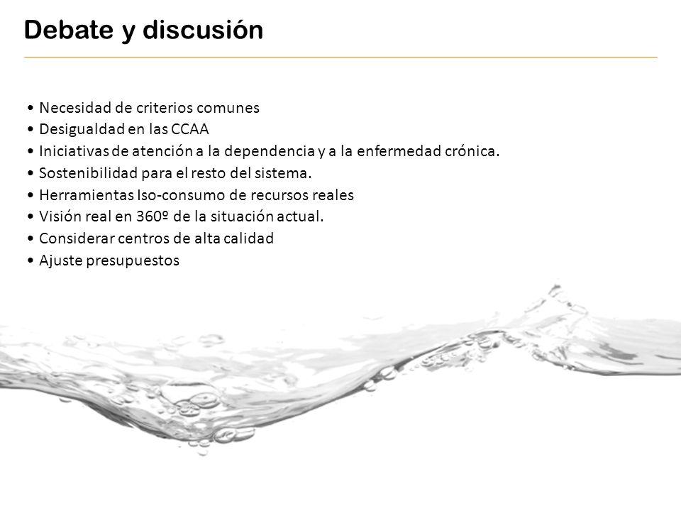 Debate y discusión Necesidad de criterios comunes