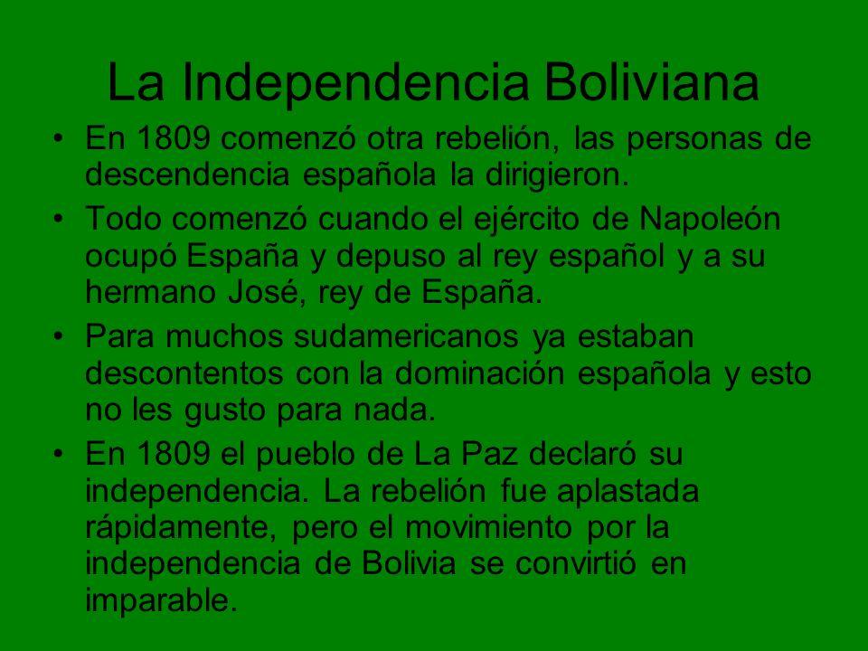 La Independencia Boliviana