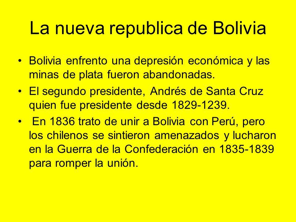 La nueva republica de Bolivia