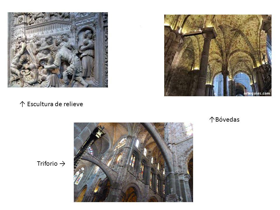 1 ↑ Escultura de relieve ↑Bóvedas Triforio →
