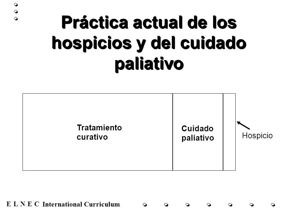 Práctica actual de los hospicios y del cuidado paliativo
