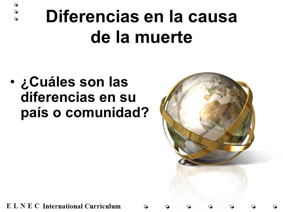 Diferencias en la causa de la muerte