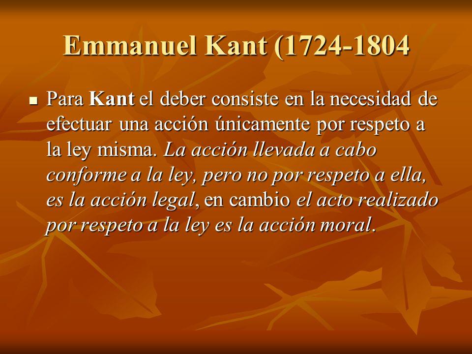 Emmanuel Kant (1724-1804