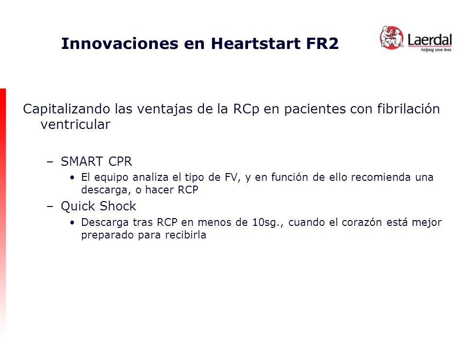 Innovaciones en Heartstart FR2