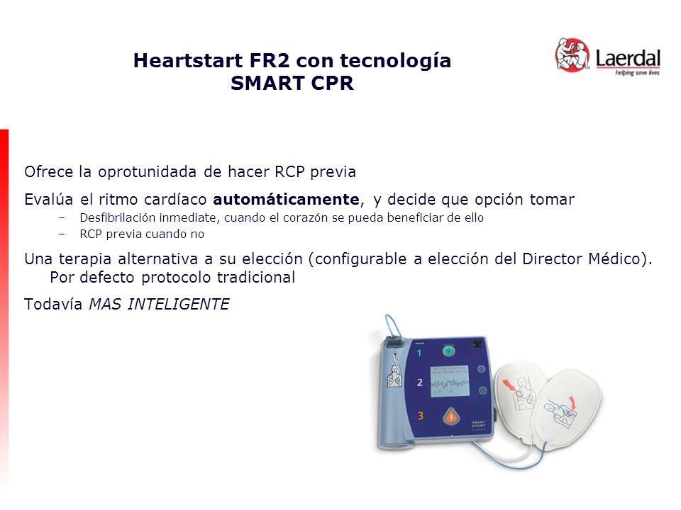 Heartstart FR2 con tecnología SMART CPR