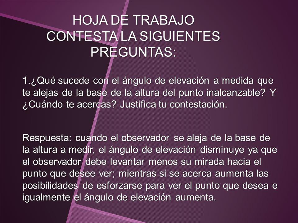 HOJA DE TRABAJO CONTESTA LA SIGUIENTES PREGUNTAS: