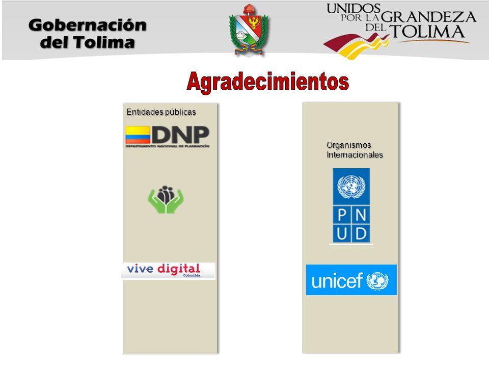 Agradecimientos Entidades públicas Organismos Internacionales
