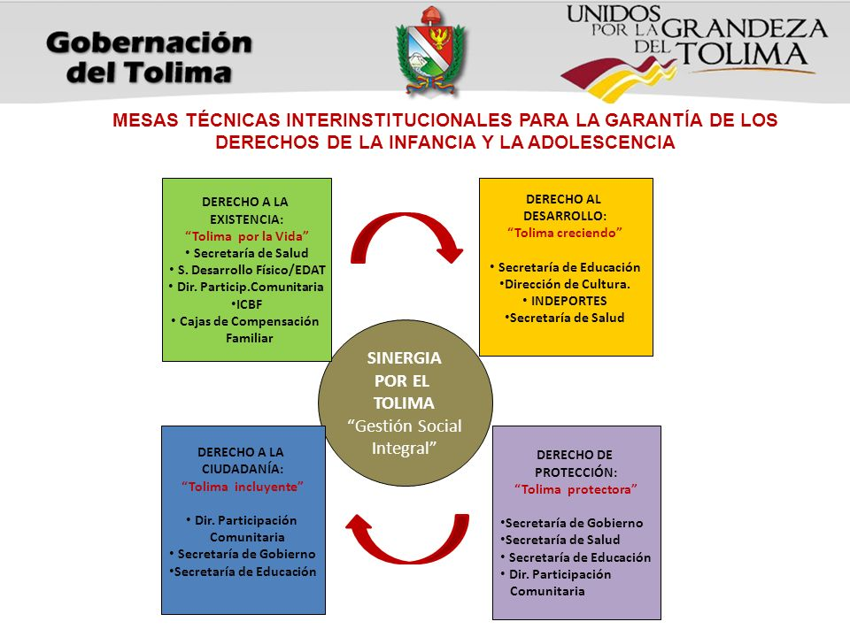 MESAS TÉCNICAS INTERINSTITUCIONALES PARA LA GARANTÍA DE LOS DERECHOS DE LA INFANCIA Y LA ADOLESCENCIA