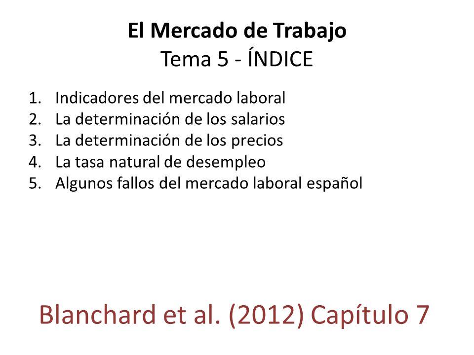 El Mercado de Trabajo Tema 5 - ÍNDICE