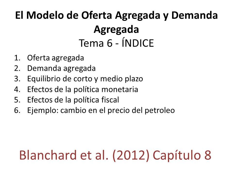El Modelo de Oferta Agregada y Demanda Agregada Tema 6 - ÍNDICE