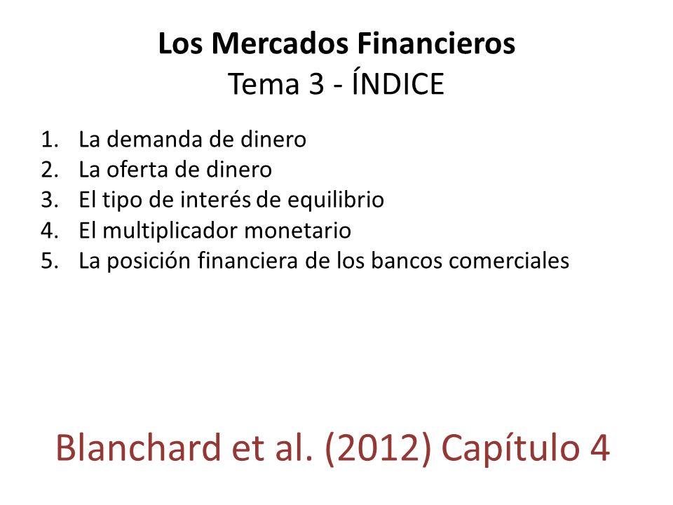 Los Mercados Financieros Tema 3 - ÍNDICE