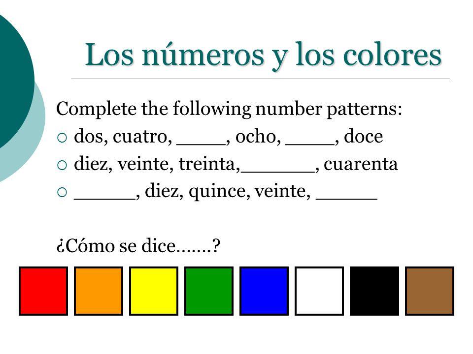 Los números y los colores