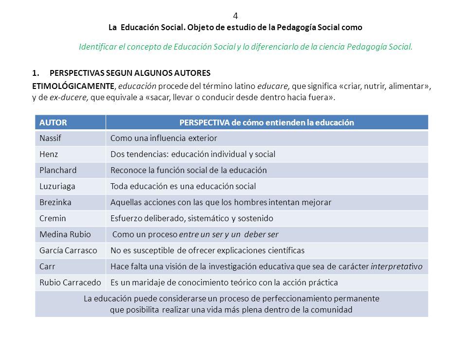 4 la educaci n social objeto de estudio de la pedagog a for Accion educativa espanola en el exterior