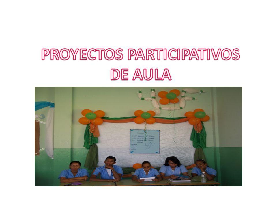 PROYECTOS PARTICIPATIVOS DE AULA