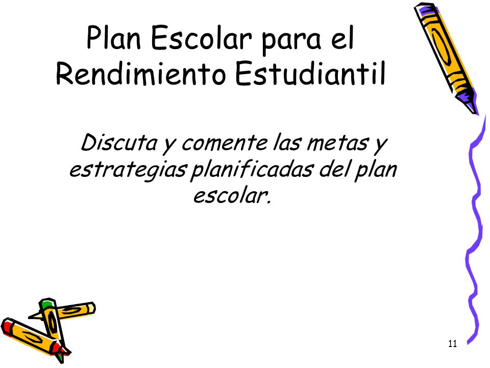 Plan Escolar para el Rendimiento Estudiantil