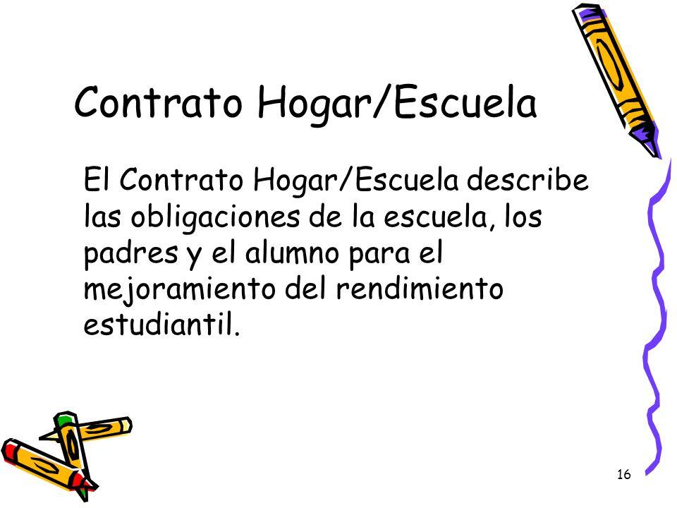 Contrato Hogar/Escuela