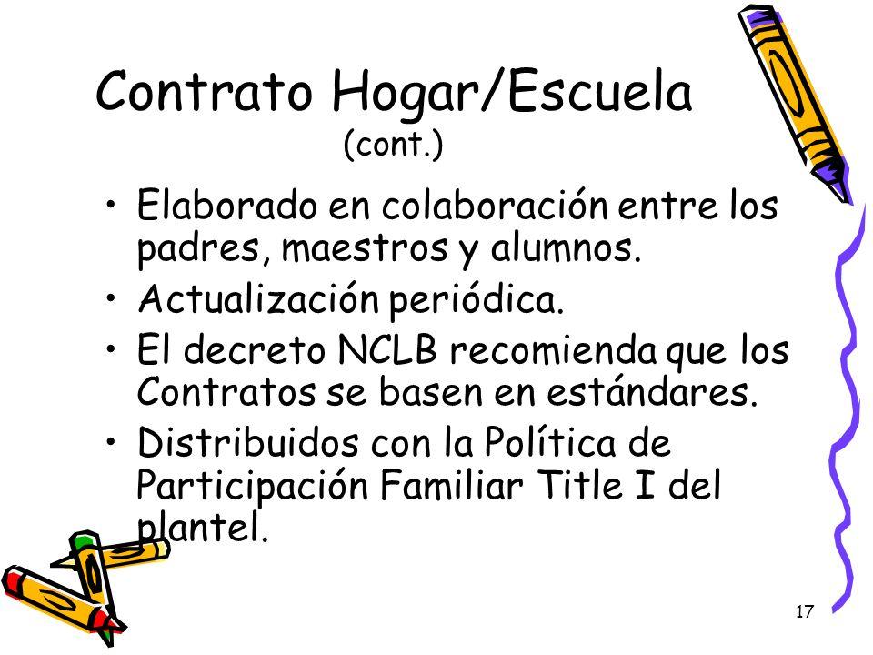 Contrato Hogar/Escuela (cont.)