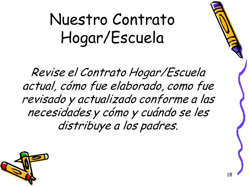 Nuestro Contrato Hogar/Escuela