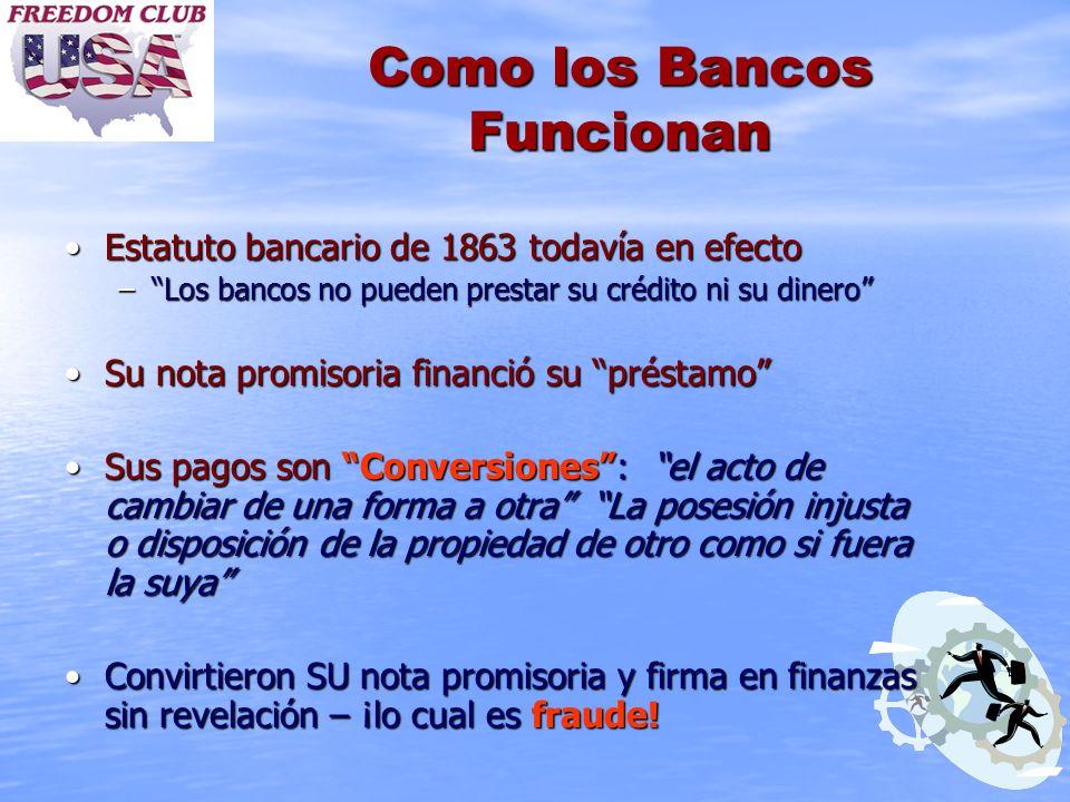 Como los Bancos Funcionan