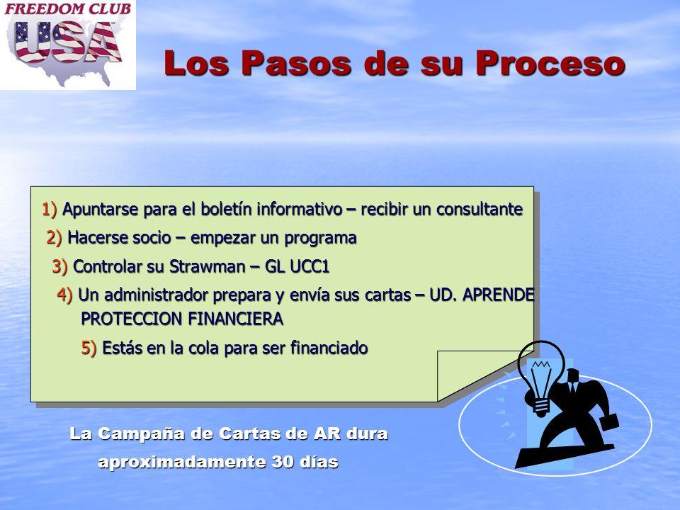 Los Pasos de su Proceso1) Apuntarse para el boletín informativo – recibir un consultante. 2) Hacerse socio – empezar un programa.