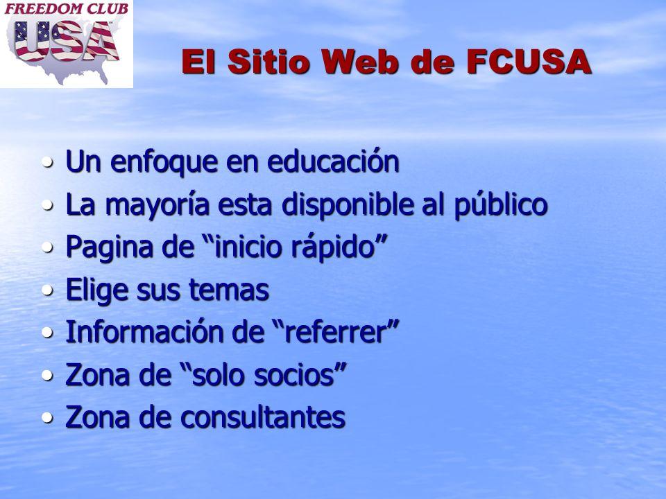 El Sitio Web de FCUSA Un enfoque en educación