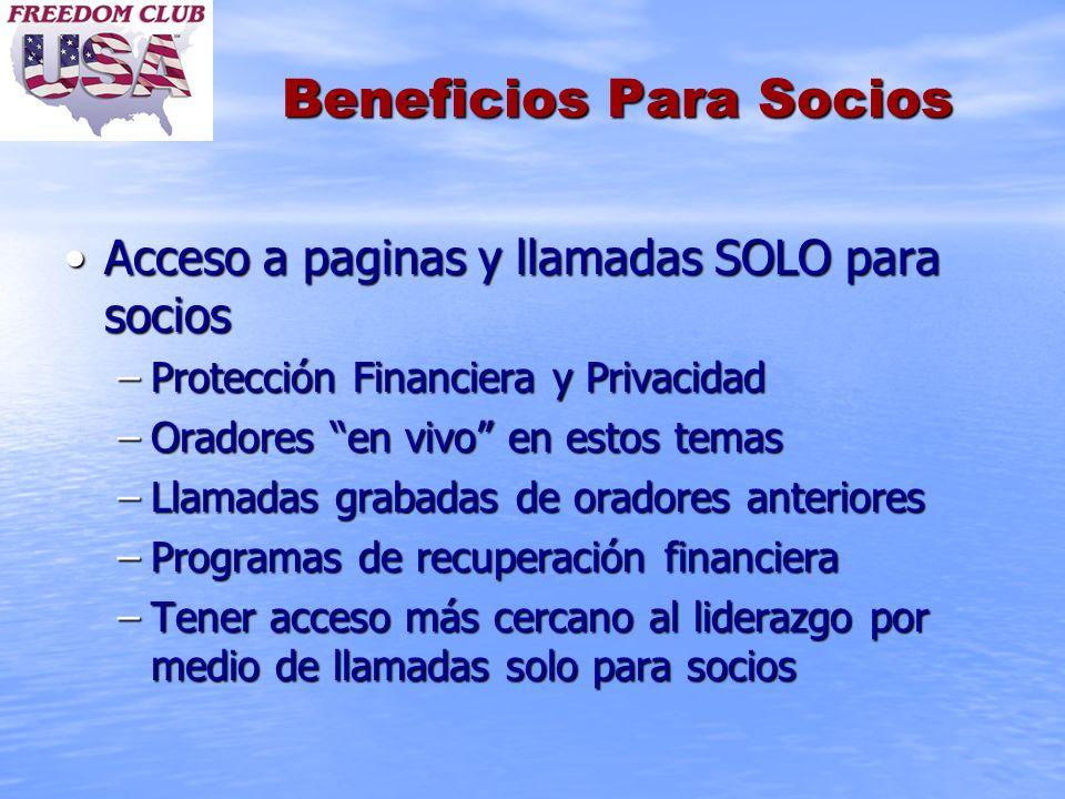 Beneficios Para Socios