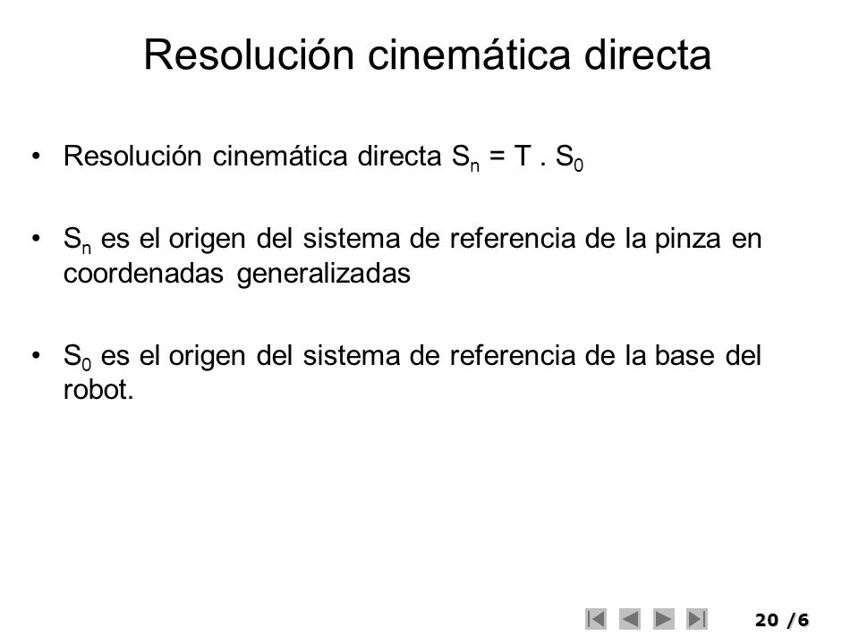 Resolución cinemática directa
