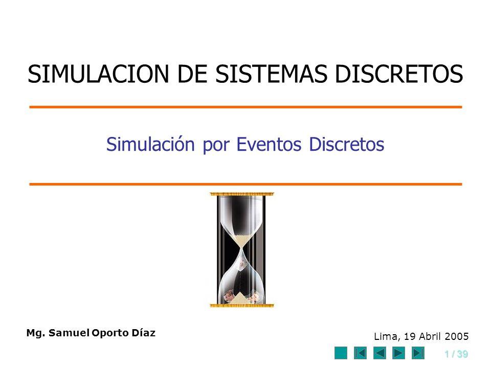 Simulación por Eventos Discretos
