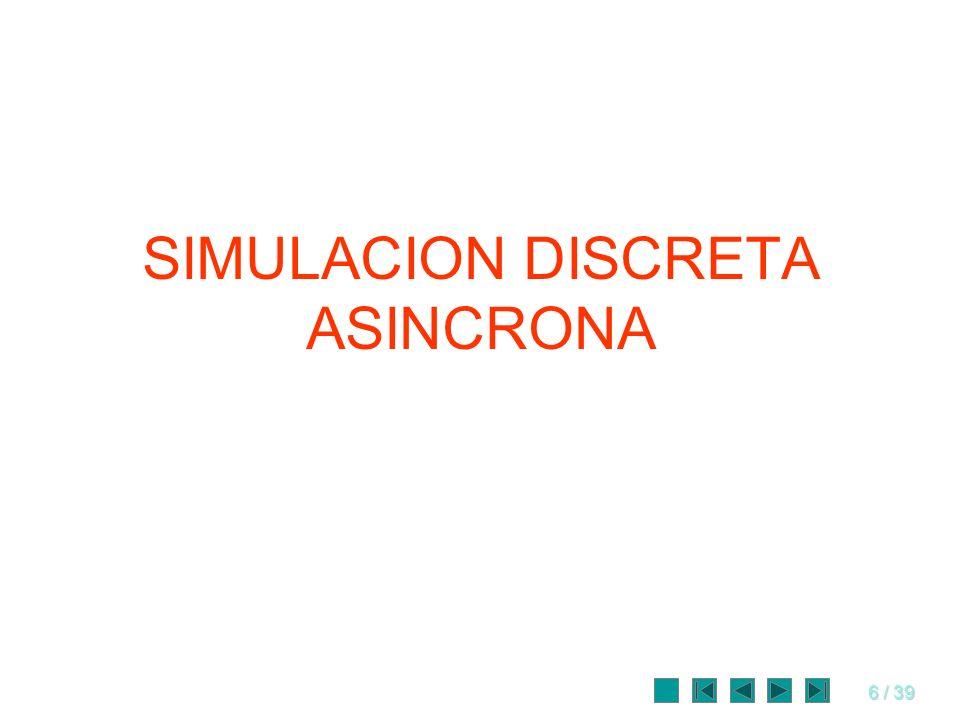 SIMULACION DISCRETA ASINCRONA