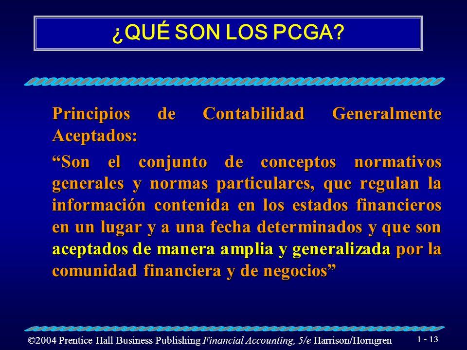¿QUÉ SON LOS PCGA Principios de Contabilidad Generalmente Aceptados:
