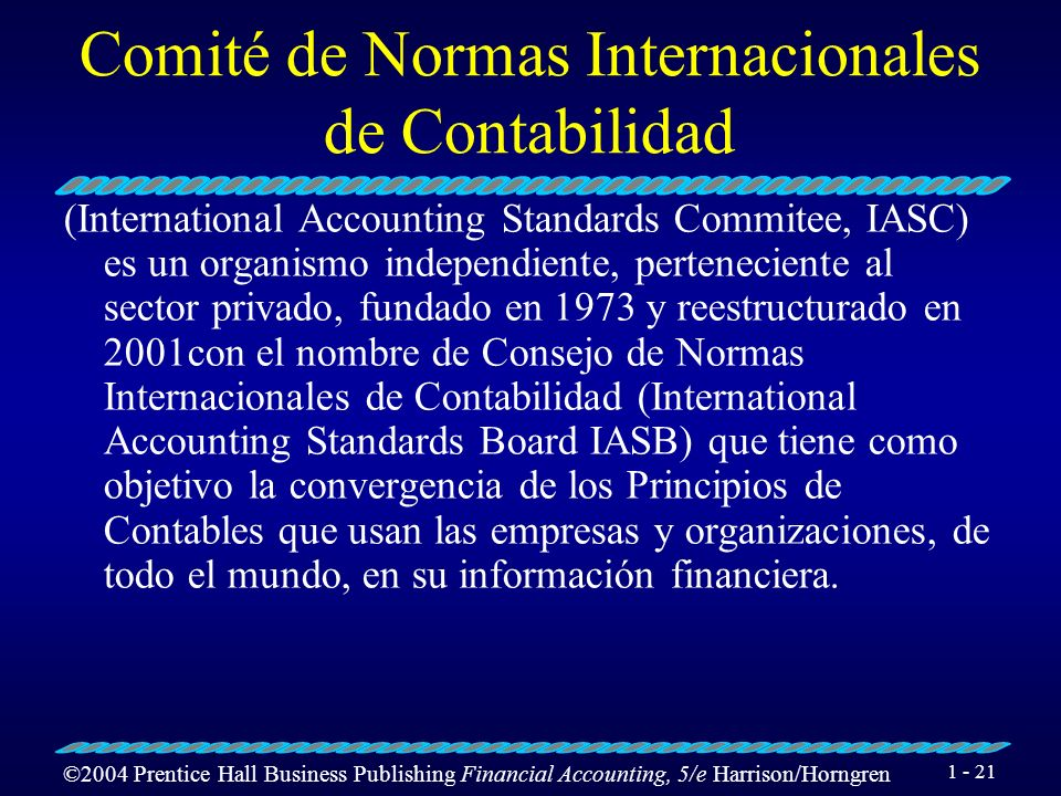 Comité de Normas Internacionales de Contabilidad