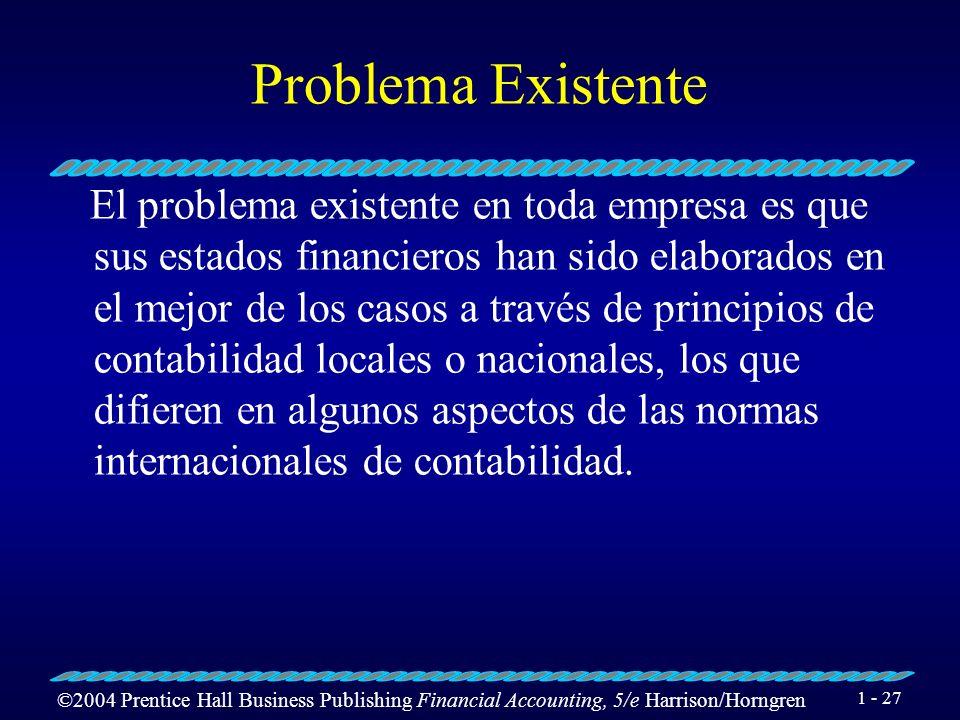 Problema Existente