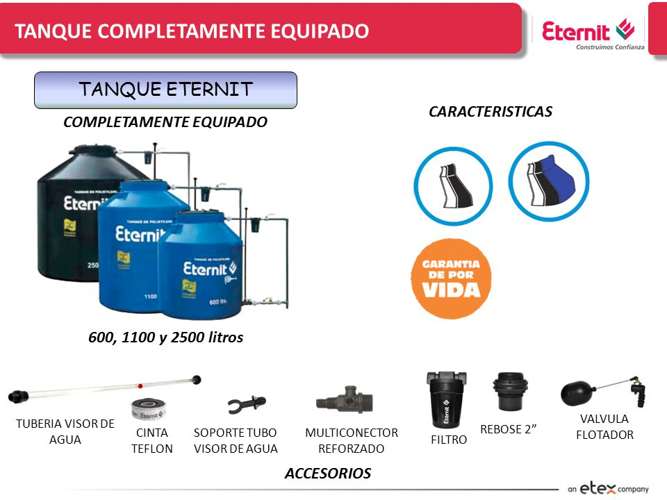 Linea domestica tanques de polietileno ppt video for Tanques de agua eternit
