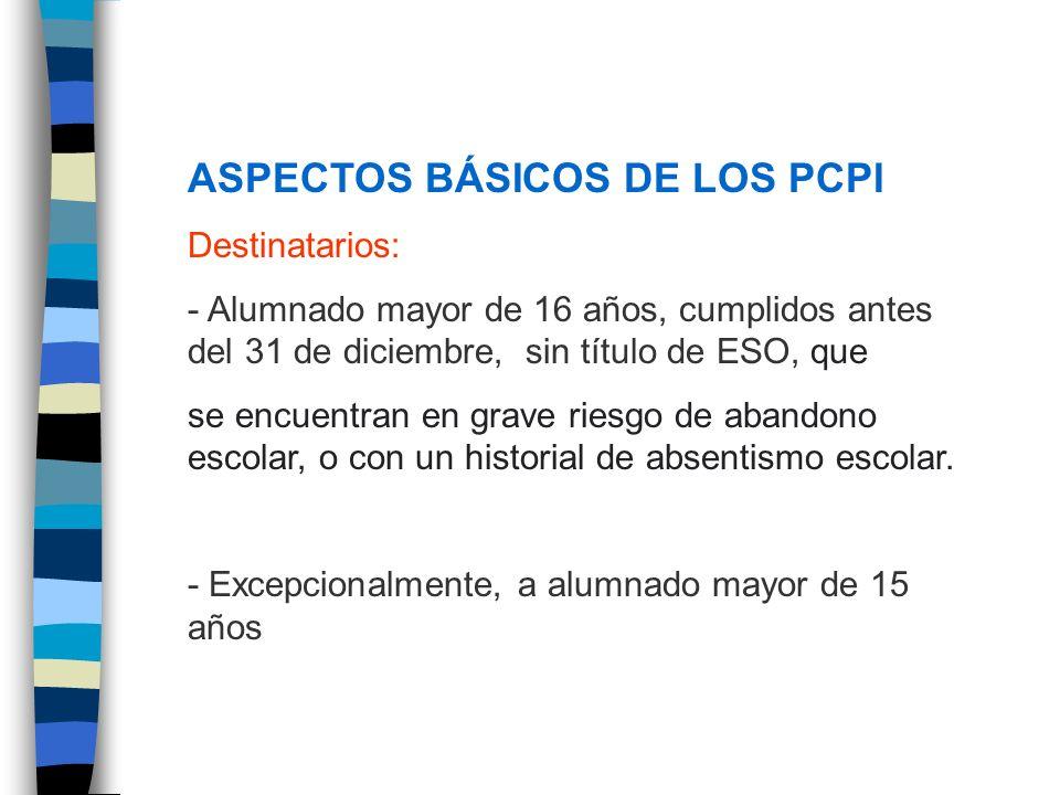 ASPECTOS BÁSICOS DE LOS PCPI