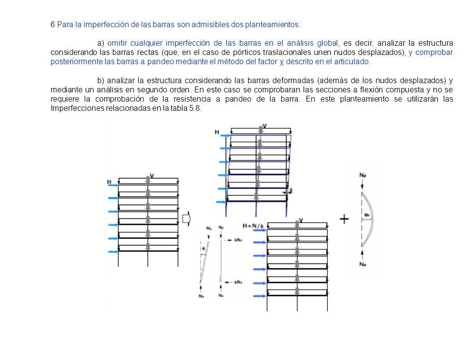 6 Para la imperfección de las barras son admisibles dos planteamientos: