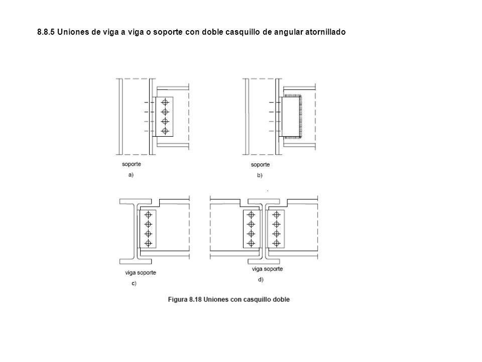 8.8.5 Uniones de viga a viga o soporte con doble casquillo de angular atornillado