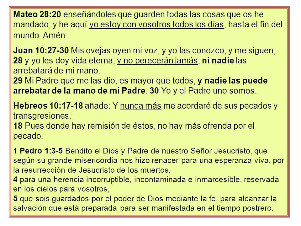 18 Pues donde hay remisión de éstos, no hay más ofrenda por el pecado.