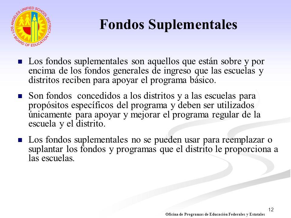 Fondos Suplementales